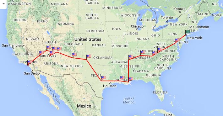 america road trip map