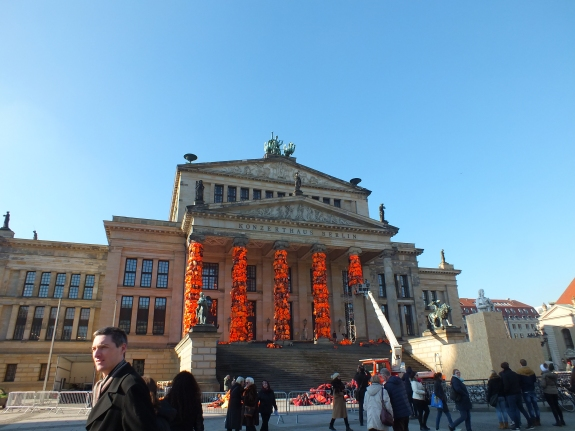 The Gendarmenmarkt covered in Life Jackets for renowned artist Ai Weiwei's latest exhibit.